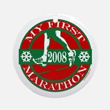 My First Marathon - 2008 Ornament (Round)