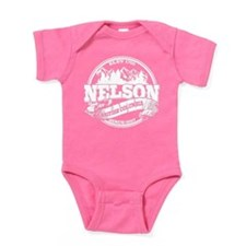 Nelson Old Circle White Baby Bodysuit