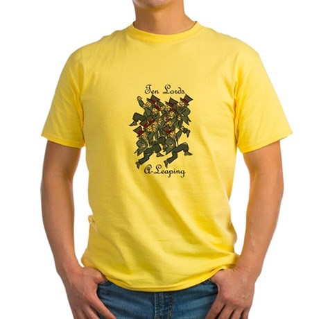 Tenth Day of Christmas Yellow T-Shirt