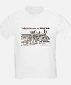 Rogers Locomotive Works 1870 Ash Grey T-Shirt