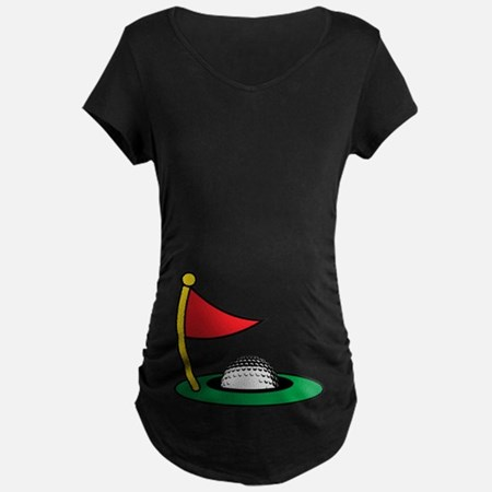 Halloween Golf Hole Maternity T-Shirt