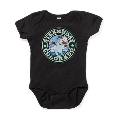 Steamboat Snowman Circle.png Baby Bodysuit