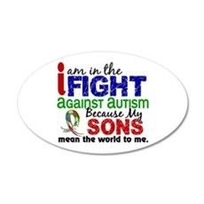 In The Fight 2 Autism Wall Decal