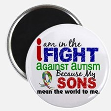 """In The Fight 2 Autism 2.25"""" Magnet (10 pack)"""