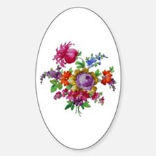 Dresden Flowers Sticker (Oval)