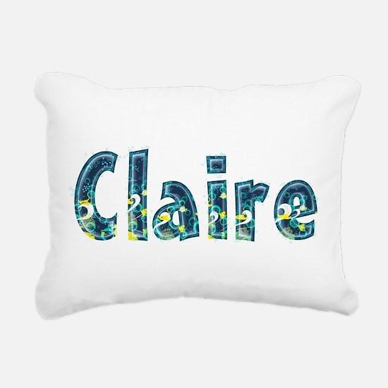 Claire Under Sea Rectangular Canvas Pillow