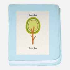 Earth Day Every Day Cat Forsley Designs baby blank