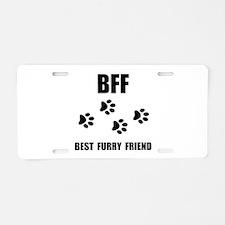 Best Furry Friend Aluminum License Plate