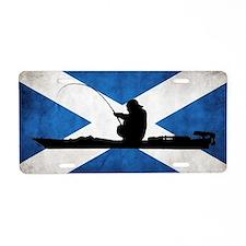 Scottish Kayak Angler - Aluminum License Plate