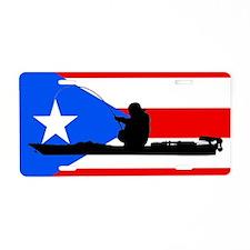 Puerto Rican Kayak Angler - Aluminum License Plate
