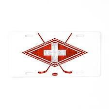 Schweiz Eishockey Logo Aluminum License Plate