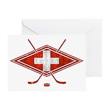 Schweiz Eishockey Logo Greeting Card