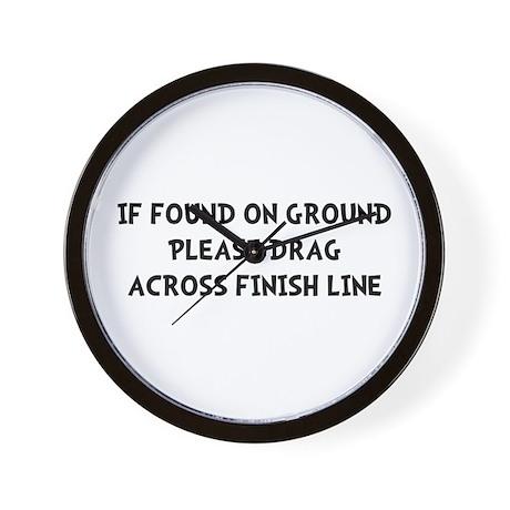 Drag Across Finish Wall Clock