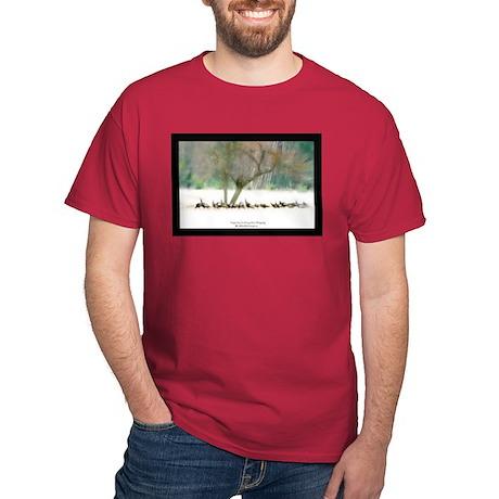 Winter Wild Turkeys Red T-Shirt
