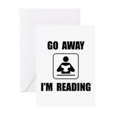 Go Away Reading Greeting Card