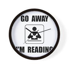 Go Away Reading Wall Clock