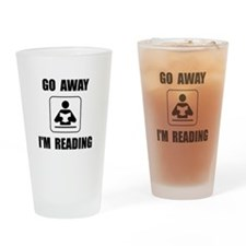 Go Away Reading Drinking Glass