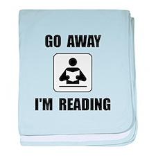 Go Away Reading baby blanket