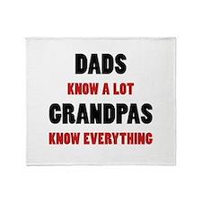 Grandpas Know Everything Throw Blanket