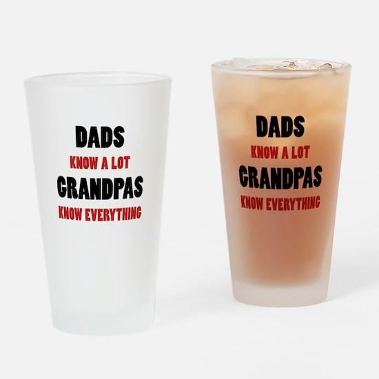 Grandpas Know Everything Drinking Glass