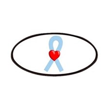 Light Blue Heart Ribbon Patches