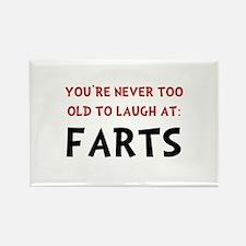 Laugh Farts Rectangle Magnet (10 pack)