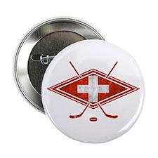 """Schweiz Eishockey Logo 2.25"""" Button"""