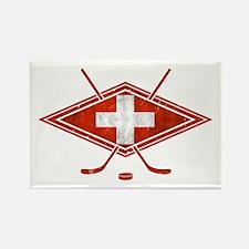 Schweiz Eishockey Logo Rectangle Magnet