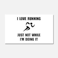 Love Running Car Magnet 20 x 12