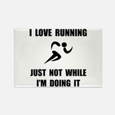 Love Running Rectangle Magnet (10 pack)