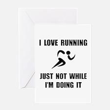 Love Running Greeting Card