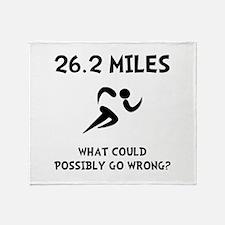 Marathon Go Wrong Throw Blanket