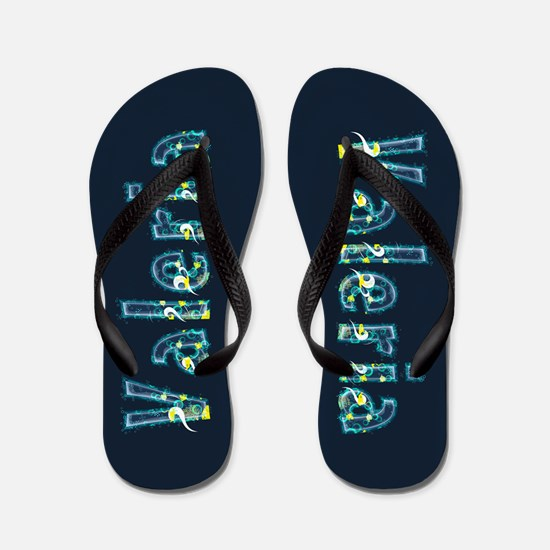 Valeria Under Sea Flip Flops