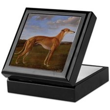 Vintage Greyhound Painting Keepsake Box