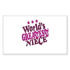 Worlds Greatest Niece Decal