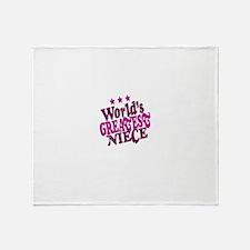 Worlds Greatest Niece Throw Blanket