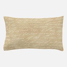 Cream Script Pillow Case