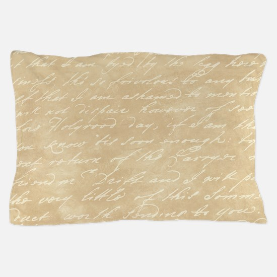 Cream Script Pillow Case