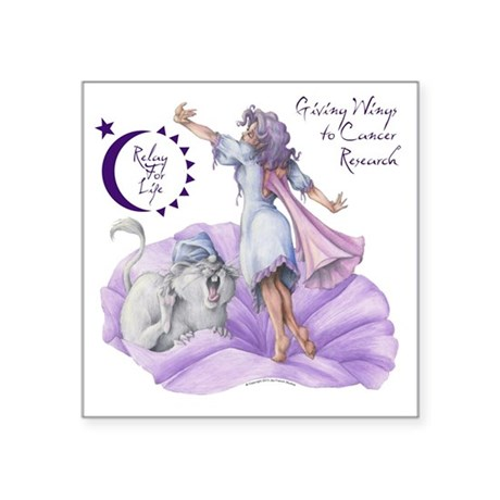 "Relay Fairy Square Sticker 3"" x 3&quo"