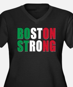 Italian Boston Pride Women's Plus Size V-Neck Dark
