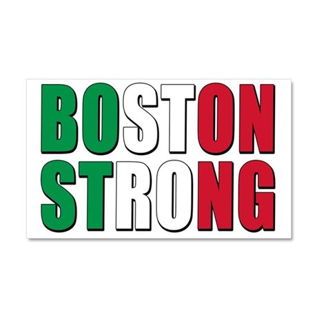 Italian Boston Pride Car Magnet 20 x 12
