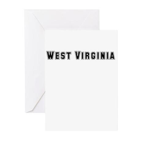 WEST VIRGINIA Greeting Cards (Pk of 10)