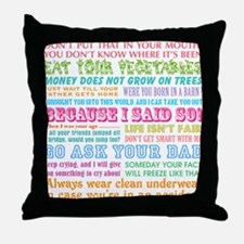 Momisms Throw Pillow