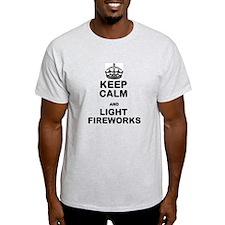 Keep Calm and Light Fireworks T-Shirt
