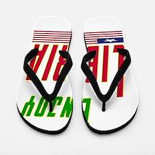 Enjoy Liberia Flag Designs Flip Flops