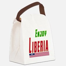 Enjoy Liberia Flag Designs Canvas Lunch Bag