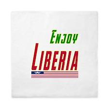 Enjoy Liberia Flag Designs Queen Duvet