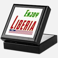Enjoy Liberia Flag Designs Keepsake Box