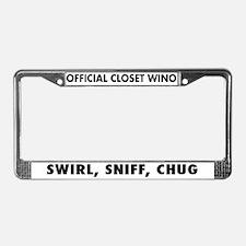 Swirl Sniff Chug License Plate Frame