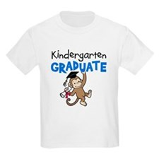 Kindergarten Graduate - Monkey (Blue) T-Shirt